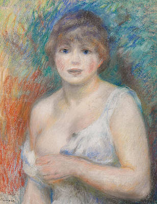 Portrait Of Jeanne Samary Art Print by Pierre Auguste Renoir