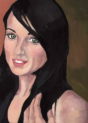 Painting - Portrait Of Jessa by Stephen Panoushek