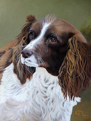 Painting - Portrait Of Jesse - Springer Spaniel by Antonio Marchese