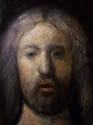 Portrait Of Jesus Christ Detail Art Print by Derek Van Derven