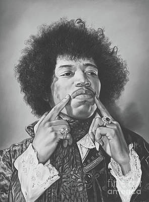 Portrait Of Jimi Hendrix Original by Teodor Bozhinov