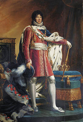 Painting - Portrait Of Joachim Napoleon Murat, King Of Naples And The Two Sicilies by Francois Gerard