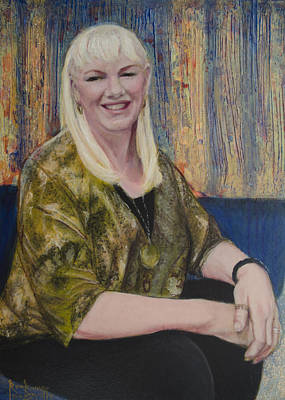 Painting - Portrait Of Joan Powers by Ron Richard Baviello