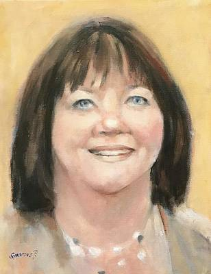 Painting - Portrait Of Joann by Synnove Pettersen