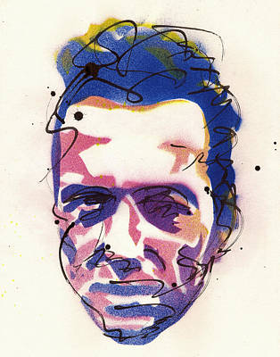 Peter Max Painting - Portrait Of Joe Strummer by Ryan  Hopkins