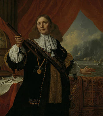 Painting - Portrait Of Johan De Liefde by Ludolf Bakhuizen