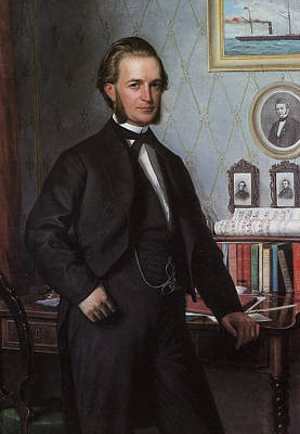Carl Bloch Painting - Portrait Of Johan Hansen by Carl Bloch
