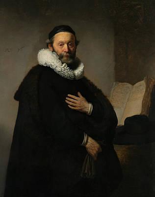 Painting - Portrait Of Johannes Wtenbogaert  by Rembrandt