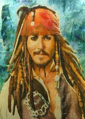 Digital Art - Portrait Of Johnny Depp by Charmaine Zoe