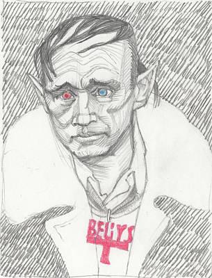 Joseph Beuys Drawing - Portrait  Of Joseph Beuys by David Dozier