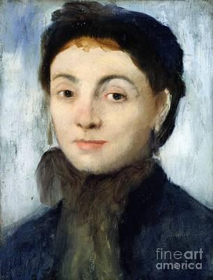 Edgar Degas Wall Art - Painting - Portrait Of Josephine Gaujelin by Edgar Degas
