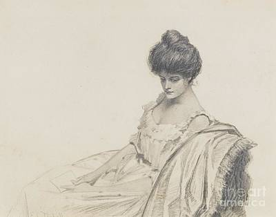 Portraits Painting - Portrait Of Josephine Tarbell Ferrell by Celestial Images