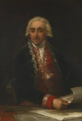 Portrait Of Old Man Painting - Portrait Of Juan De Villanueva by Francisco Goya