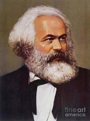 Portrait Of Karl Marx Print by Unknown