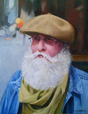 Painting - Portrait Of Kenn Lubin by Mark Lunde