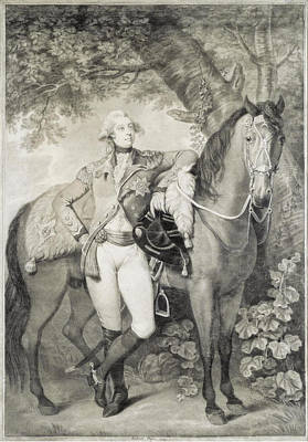 Drawing - Portrait Of King George Iv When Prince Of Wales by Richard Crosse