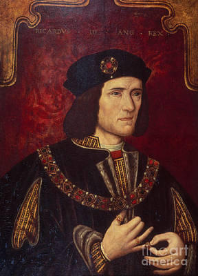 Portrait Of King Richard IIi Art Print by English School