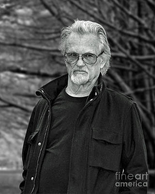 Photograph - Portrait Of Kris Kristofferson In A Wooded Bluff by Jim Fitzpatrick