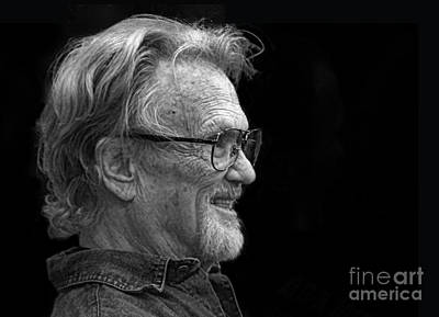 Photograph - Portrait Of Kris Kristofferson by Jim Fitzpatrick