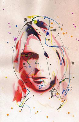 Portrait Of Kurt Cobain Original by Ryan  Hopkins