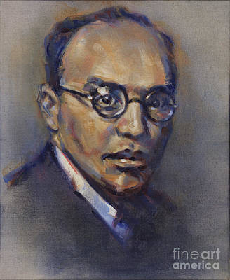 Painting - Portrait Of Kurt Weill by Ritchard Rodriguez