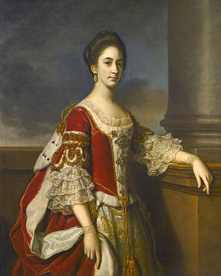Painting - Portrait Of Lady Elizabeth Compton Later Countess Of Burlington by Nathaniel Dance