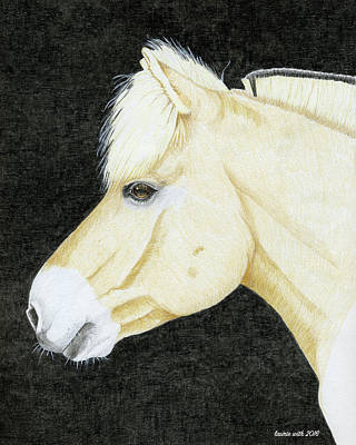 Fjord Drawing - Portrait Of Laila, Fjord Mare by Laurie With