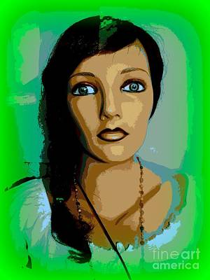 Digital Art - Portrait Of Leah by Ed Weidman