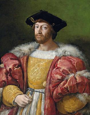 Raffaello Santi Painting - Portrait Of Lorenzo II De' Medici by Raphael