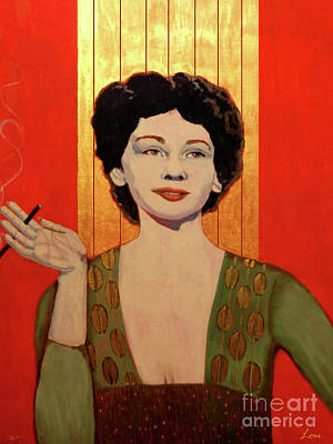 40s Painting - Portrait Of Lou by Dia T