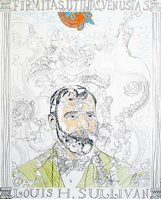Portrait Of Louis Sullivan Art Print by William Douglas