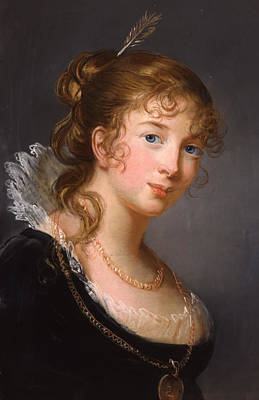 Chain Necklace Painting - Portrait Of Louisa Princess Radziwill  by Elisabeth Louise Vigee-Lebrun