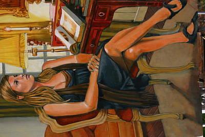 Painting - Portrait Of Lydia by Joe Jaqua