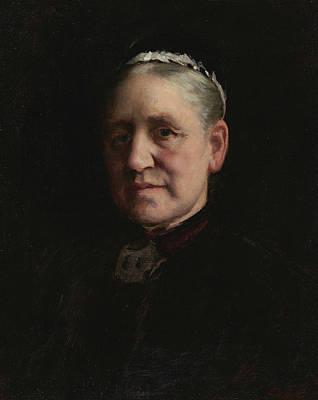 Painting - Portrait Of Madam Verdier  by Paul Peel
