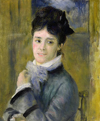 Portrait Of Madame Claude Monet Art Print by Renoir
