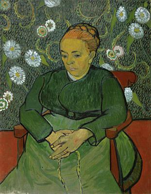 Post-impressionism Painting - Portrait Of Madame Roulin, La Berceuse by Vincent van Gogh
