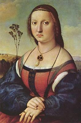 Maddalena Painting - Portrait Of Maddalena Doni by Raphael