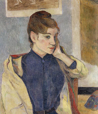 Chin Up Painting - Portrait Of Madeleine Bernard by Paul Gauguin