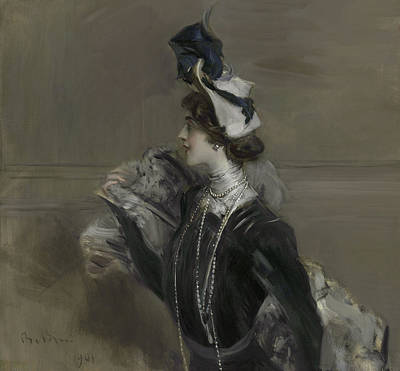 Operatic Painting - Portrait Of Mademoiselle Lina Cavalieri by Giovanni Boldini