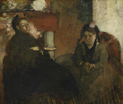 Edgar Degas Wall Art - Painting - Portrait Of Mademoiselle Lisle And Mademoiselle Loubens by Edgar Degas