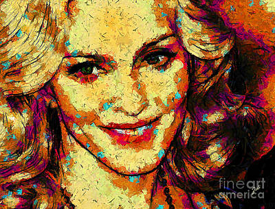 Digital Art - Portrait Of Madonna by Zedi