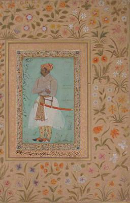 Portrait Painting - Portrait Of Maharaja Bhim Kanwar by MotionAge Designs