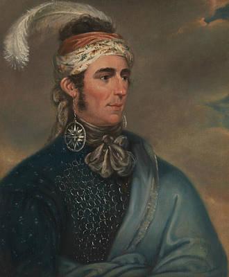 Portrait Of Major John Norton As Mohawk Chief Teyoninhokarawen Art Print by Mather Brown