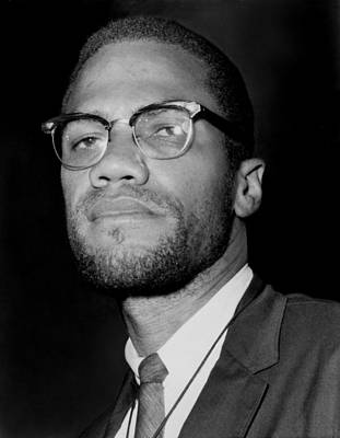 Portrait Of Malcolm X. 1964-65 Art Print by Everett