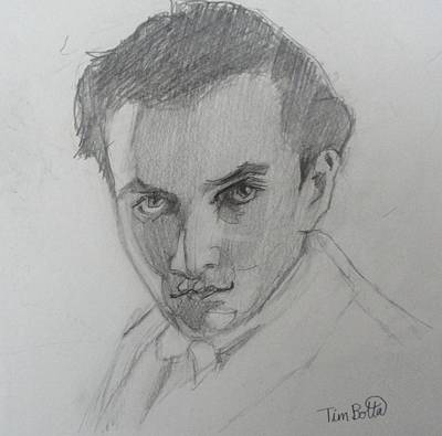 New Mind Drawing - Portrait Of Manly P. Hall by Tim Botta