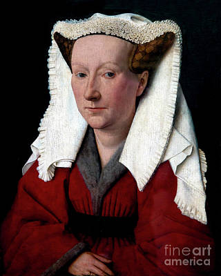 Jan.15th Photograph - Portrait Of Margareta Van Eyck, By Jan Van Eyck, 1439, Groeninge by Peter Barritt