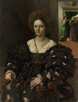 Margherita Painting - Portrait Of Margherita Paleologo by Giulio Romano