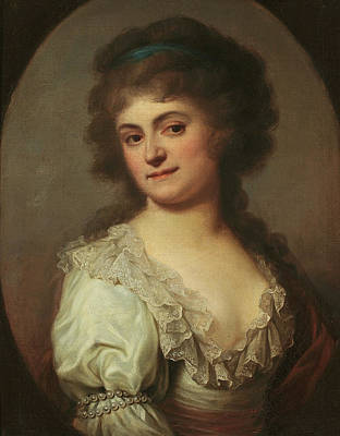 Duchesne Painting - Portrait Of Maria Cecylia Duchesne Nee Merlini by Josef Maria Grassi