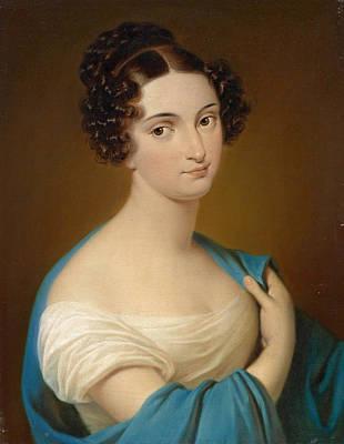 Nitti Painting - Portrait Of Maria Despina Nitto  by Carl von Saar