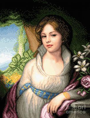 Tapestry - Textile - Portrait Of Maria Lopukhina by Stoyanka Ivanova